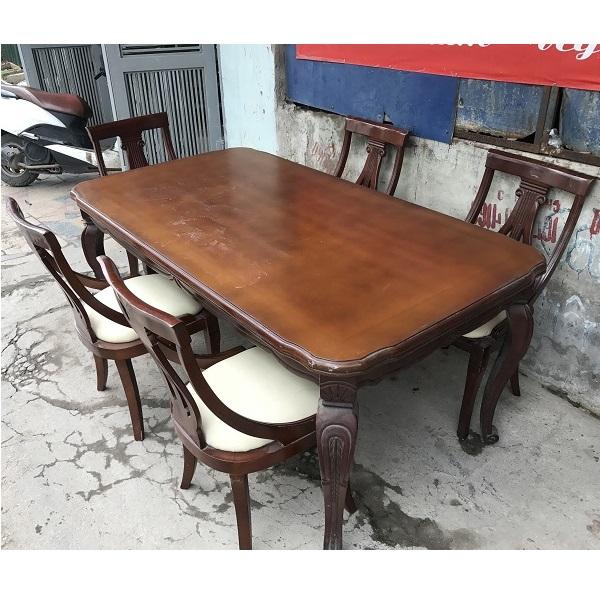 Bộ bàn ghế ăn 5 ghế gỗ tự nhiên nhập khẩu