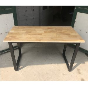bàn chân sắt sơn tĩnh điện-mặt gỗ cao su
