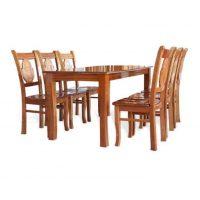 bàn ghế ăn gỗ xoan đào hagl