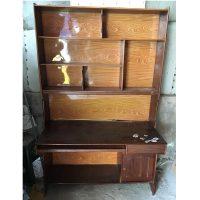 bàn liền giá sách gỗ nghiến