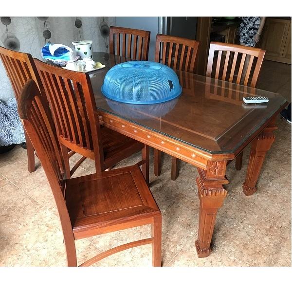 Bộ bàn ăn 8 ghế gỗ hương đỏ