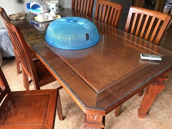 Bộ bàn ăn 8 ghế gỗ hương đỏ 1