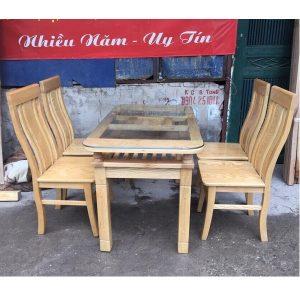 Bộ bàn ghế ăn 4 ghế gỗ sồi nga