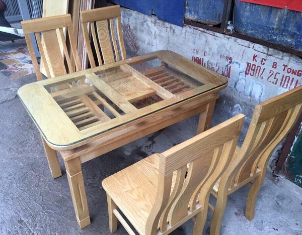 Bộ bàn ghế ăn 4 ghế gỗ sồi nga 1