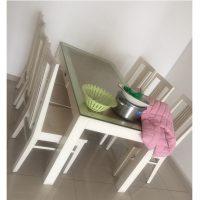 bộ bàn ghế ăn 6 ghế gỗ sồi trắng