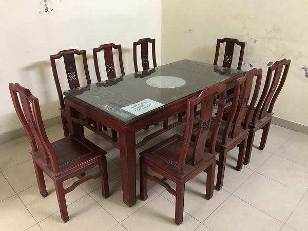 Bộ bàn ghế ăn gỗ hương đỏ 8 ghế_1
