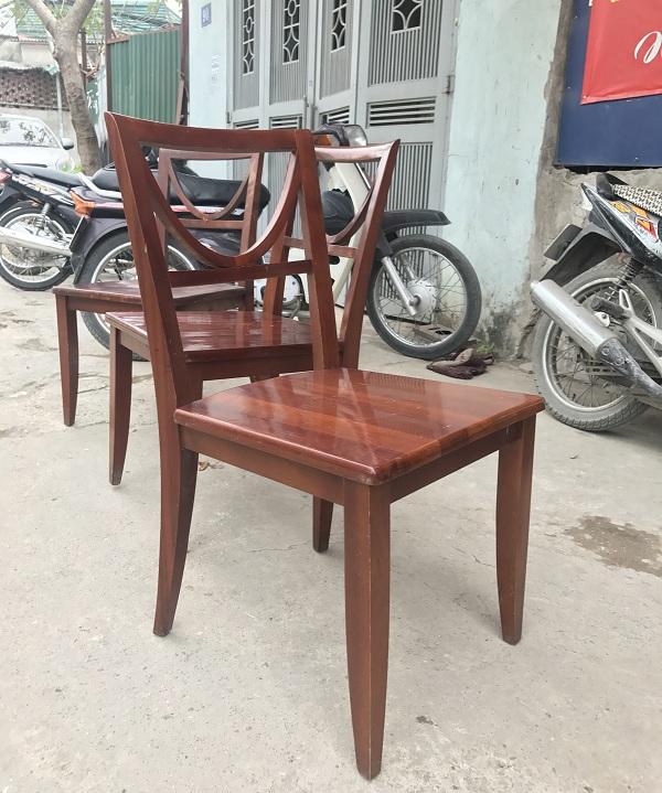 bộ bàn ghế ăn gỗ xoan đào 6 ghế thanh lý_2