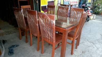 Bộ bàn ghế ăn gỗ xoan đào 8 ghế