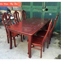 Bộ bàn ghế ăn gỗ xoan đào Hoàng Anh Gia Lai 6 ghế
