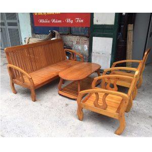 bộ bàn ghế gỗ pơmu hàng đặt đóng