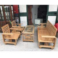 Bộ bàn ghế gỗ sồi Nga mới 95% thanh lý