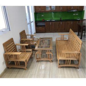 Bộ bàn ghế gỗ xoan đào Hoàng Anh Gia Lai thanh lý