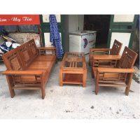 bộ bàn ghế gỗ xoan đào mới 90%