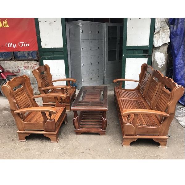 Bộ bàn ghế gỗ xoan đào mới 90% thanh lý
