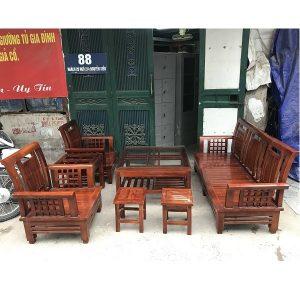 Bộ bàn ghế gỗ xoan thanh lý