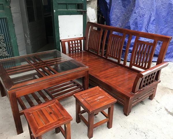 Bộ bàn ghế gỗ xoan thanh lý 2
