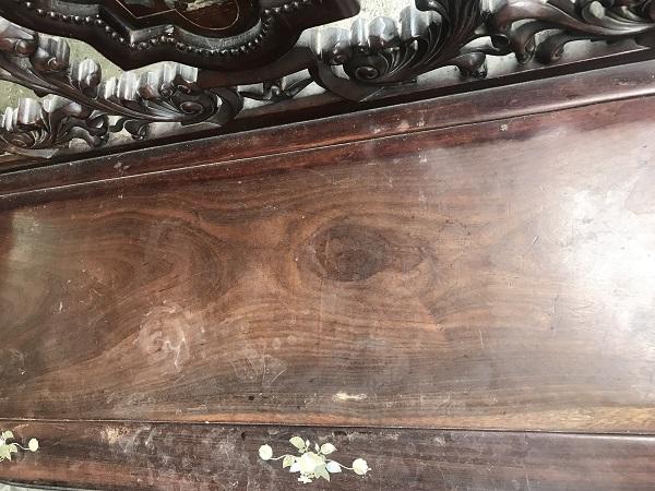 Bộ bàn ghế guột hoa lan tây gỗ gụ ta 4