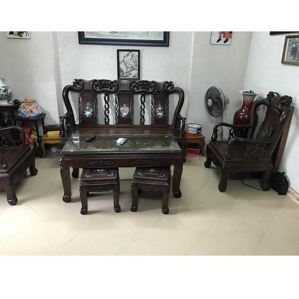 Bộ bàn ghế minh quốc đào cột 8
