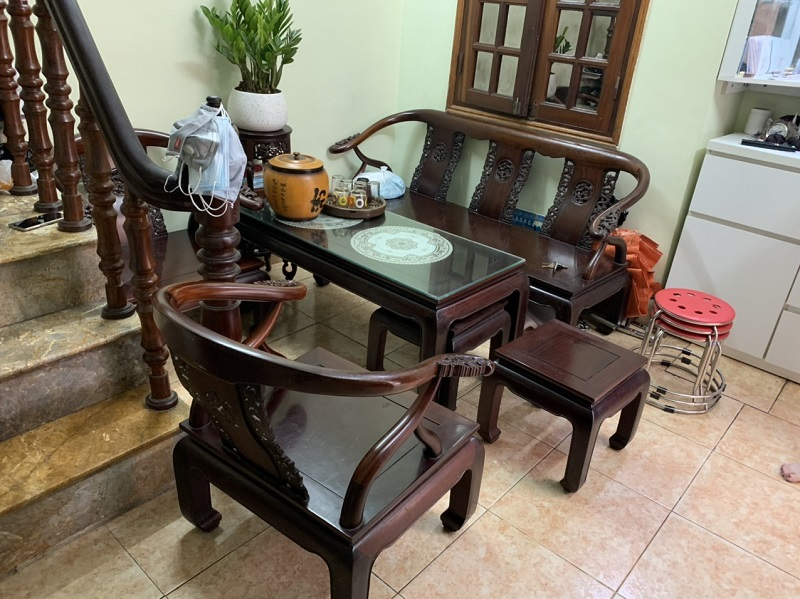 Bộ bàn ghế minh thúng gỗ gụ