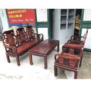 Bộ bàn ghế như ý gỗ gụ