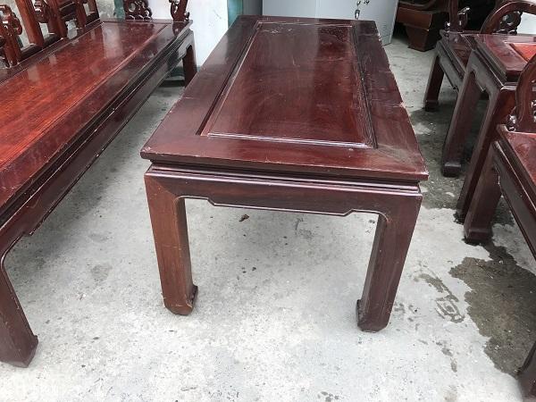 Bộ bàn ghế như ý gỗ gụ_2