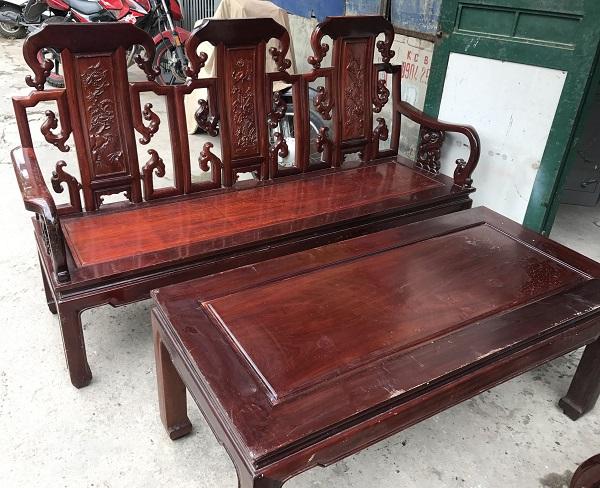 Bộ bàn ghế như ý gỗ gụ_3