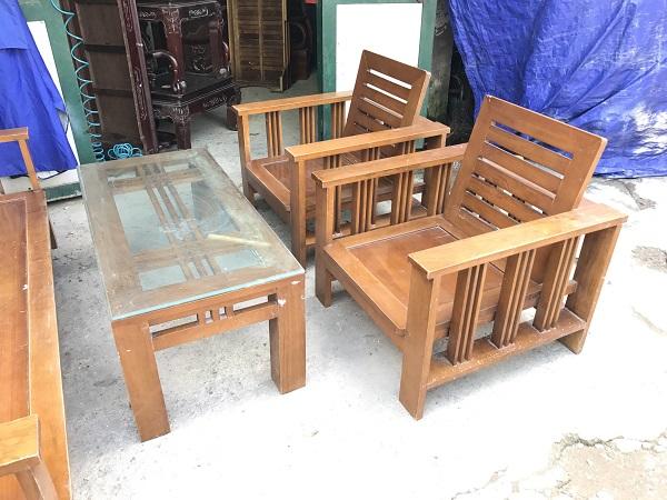Bộ bàn ghế phòng khách gỗ xoan đào_1