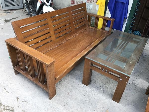 Bộ bàn ghế phòng khách gỗ xoan đào_2