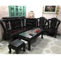 bộ bàn ghế quốc công cột 10 gỗ gụ ta hàng 6 món