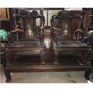 Bộ bàn ghế quốc đào gỗ gụ 6 món thanh lý
