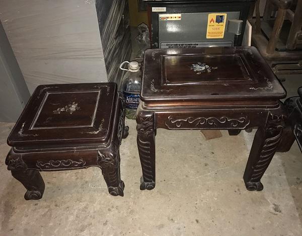 Bộ bàn ghế quốc đào gỗ gụ 6 món thanh lý 1