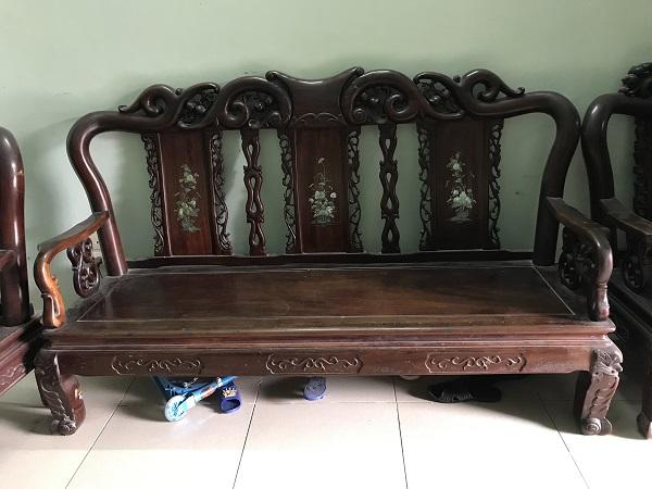 Bộ bàn ghế quốc đào gỗ gụ 6 món thanh lý 3