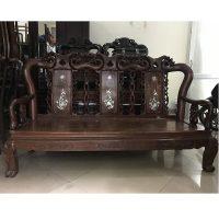 bộ bàn ghế quốc đào gỗ gụ cột 9 hàng 6 món