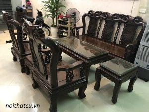 bộ bàn ghế quốc đào gỗ gụ ta 6 món