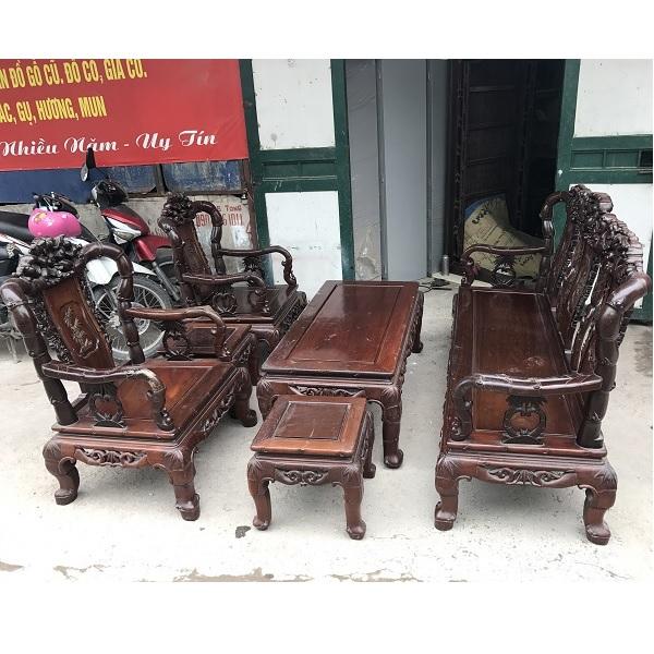 bộ bàn ghế quốc trúc gỗ gụ ta 6 món