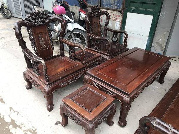 bộ bàn ghế quốc trúc gỗ gụ ta 6 món 2