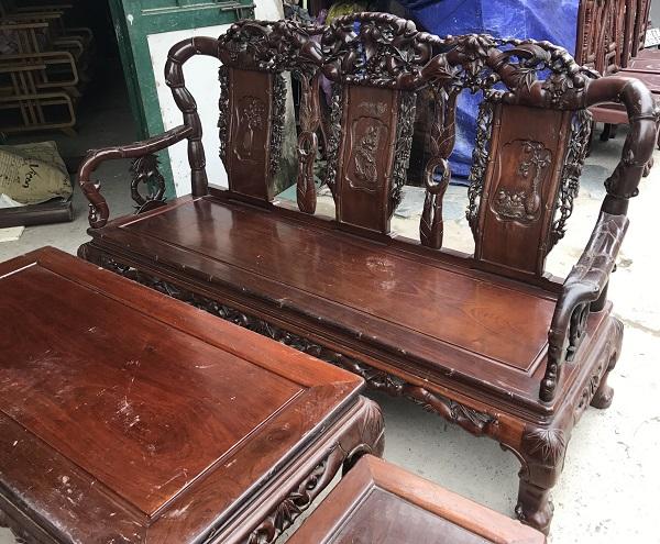 bộ bàn ghế quốc trúc gỗ gụ ta 6 món 3