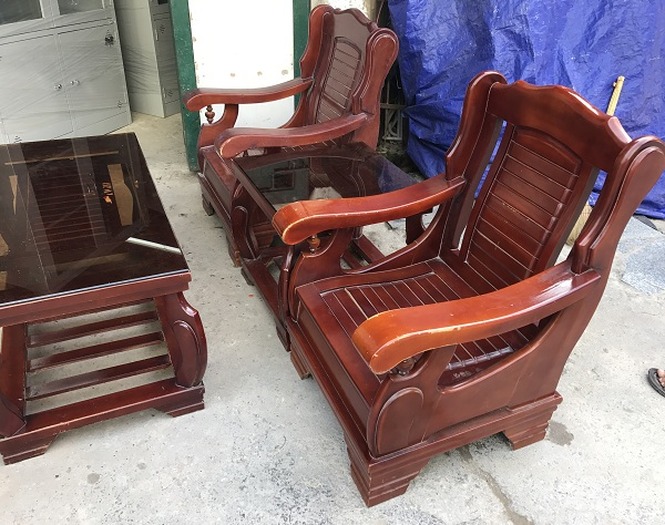 bộ bạn ghế salon gỗ tự nhiên 1