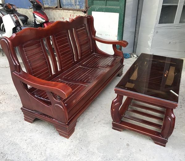 bộ bạn ghế salon gỗ tự nhiên 2