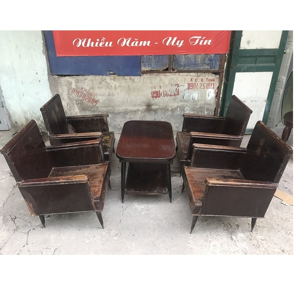Bộ bàn ghế salon thùng bao cấp