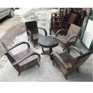 Bộ bàn ghế sa long thùng bao cấp gỗ gụ ta