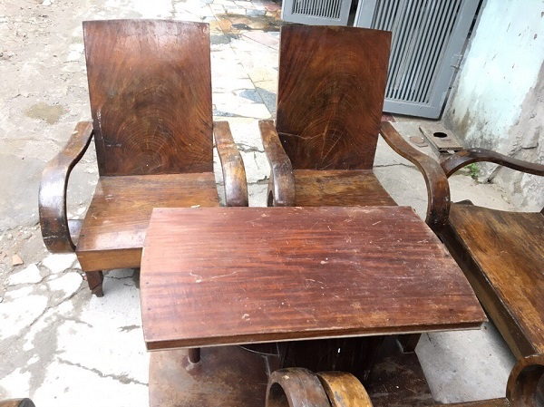 Bộ bàn ghế xa long thùng gỗ lát chun 6 món_2