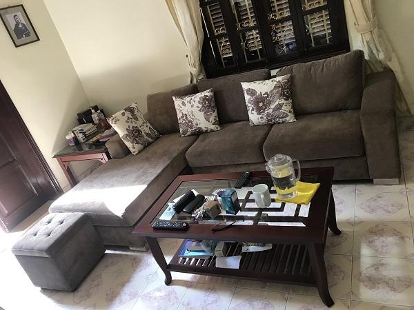 Bộ sofa nỉ cao cấp chữ L mới 90%_1