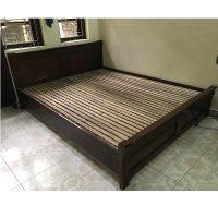 Giường gỗ gội kt 160x200cm thanh lý
