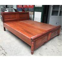 giường gỗ hương đỏ