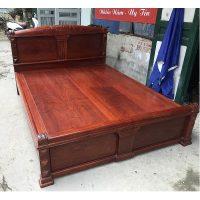 giường gỗ hương đỏ lào vip