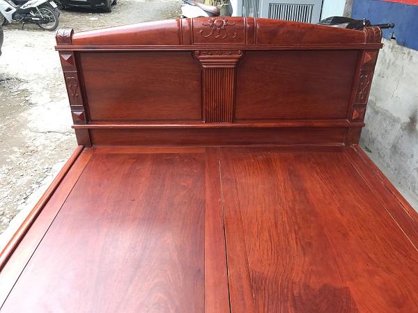 giường gỗ hương đỏ lào vip 2