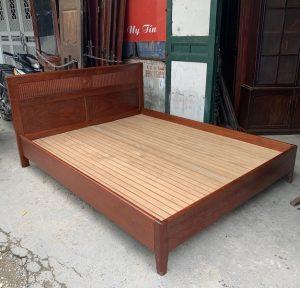 Giường gỗ hương đỏ ta kích thước 160x200cm