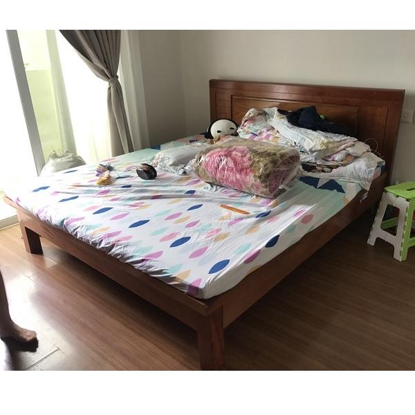 Giường gỗ xoan đào rát phản kích thước 180x200cm thanh lý