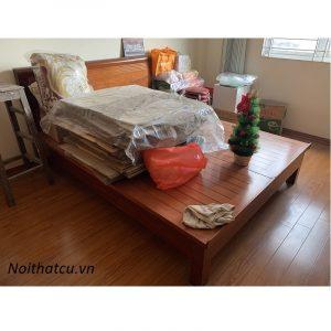 Giường rát phản gỗ xoan đào kích thước 160x200cm